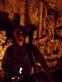 Crete, Jim stands in the cave where Zeus was said to be born - for the Savvy Traveler""