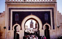 The Blue Gate is the main entrance to Fez's medina, the older section of the city.