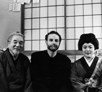 In Japan with storyteller Nekohachi Edoya and his daughter